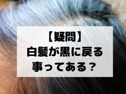 【疑問】白髪が黒に戻る事ってある?【美容師が教える白髪の予防方法】